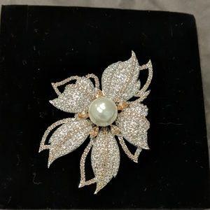 Pave Crystal brooch